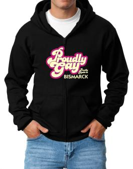 Proudly Gay, Proudly Made In Bismarck Zip Hoodie - Mens