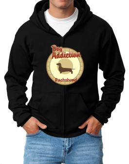 Dog Addiction : Dachshund Zip Hoodie - Mens