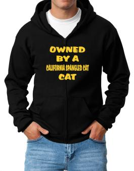 Owned By S California Spangled Cat Zip Hoodie - Mens