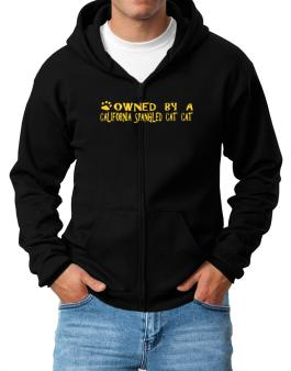 Owned By A California Spangled Cat Zip Hoodie - Mens