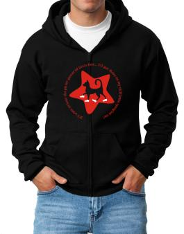 If I Want To Hear The Pitter-patter Of Little Feet ... Ill Put Shoes On My California Spangled Cat Zip Hoodie - Mens