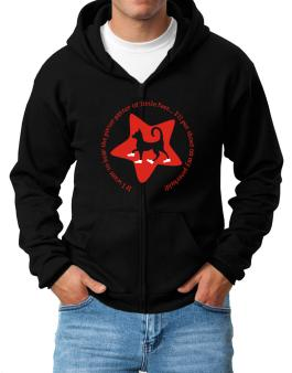 If I Want To Hear The Pitter-patter Of Little Feet ... Ill Put Shoes On My Peterbald Zip Hoodie - Mens