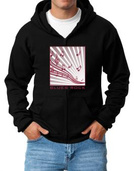 Blues Rock - Musical Notes Zip Hoodie - Mens
