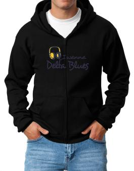 I Wanna Delta Blues - Headphones Zip Hoodie - Mens