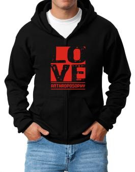 Love Anthroposophy Zip Hoodie - Mens