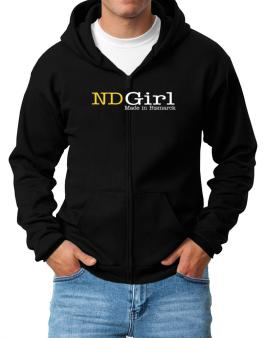 Girl Made In Bismarck Zip Hoodie - Mens