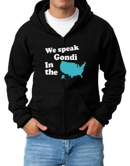 Gondi Is Spoken In The Us - Map Zip Hoodie - Mens