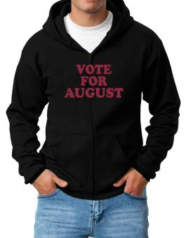 Vote For August Zip Hoodie - Mens
