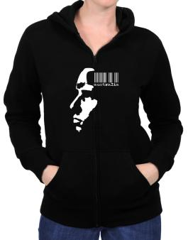 Australia - Barcode With Face Zip Hoodie - Womens