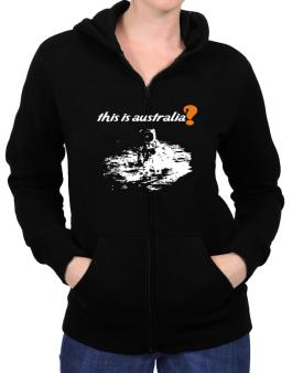 This Is Australia? - Astronaut Zip Hoodie - Womens