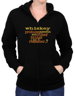 Whiskey Produces Amnesia And Other Things I Dont Remember ..? Zip Hoodie - Womens