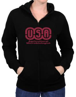Usa Agricultural Microbiologist Zip Hoodie - Womens