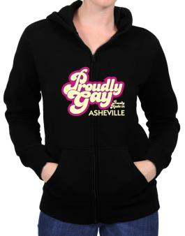 Proudly Gay, Proudly Made In Asheville Zip Hoodie - Womens