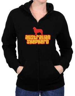 Breed Color Australian Shepherd Zip Hoodie - Womens