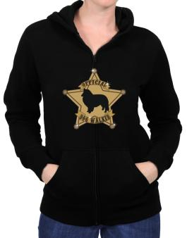 Official Shetland Sheepdog Walker Zip Hoodie - Womens