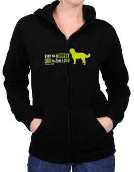 Even The Biggest Dog Has Been A Pup - Labradoodle Zip Hoodie - Womens