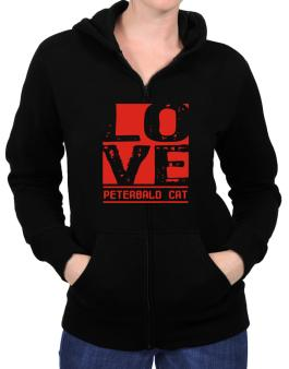 Love Peterbald Zip Hoodie - Womens