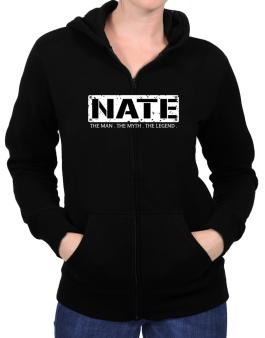 Nate : The Man - The Myth - The Legend Zip Hoodie - Womens