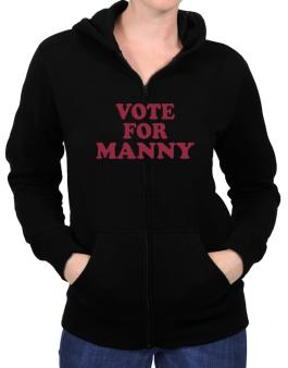 Vote For Manny Zip Hoodie - Womens