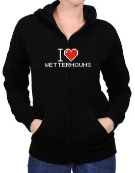 I love Wetterhouns pixelated Zip Hoodie - Womens