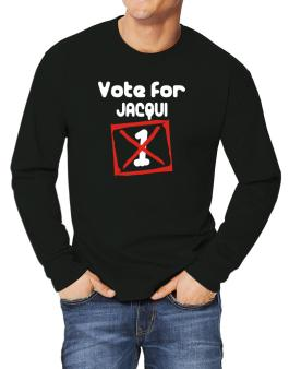 Vote For Jacqui Long-sleeve T-Shirt