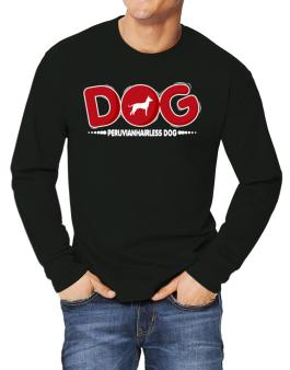 Peruvian Hairless Dog / Silhouette - Dog Long-sleeve T-Shirt
