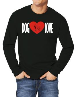 Dog Love - Labradoodle Silhouette Long-sleeve T-Shirt