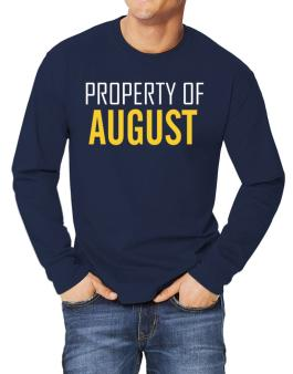 Property Of August Long-sleeve T-Shirt