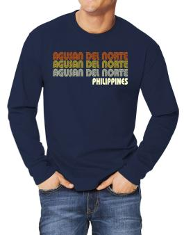 Retro Color Agusan Del Norte Long-sleeve T-Shirt