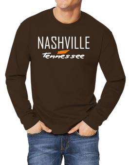 """ Nashville - State Map "" Long-sleeve T-Shirt"