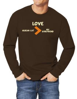 Love Aegean Cat > My Girlfriend Long-sleeve T-Shirt
