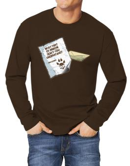 What Part Of Meow Dont You Understand? - Cymric Letter Long-sleeve T-Shirt
