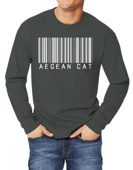 Aegean Cat Barcode Long-sleeve T-Shirt