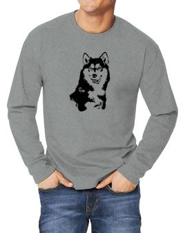 Siberian Husky Face Special Graphic Long-sleeve T-Shirt