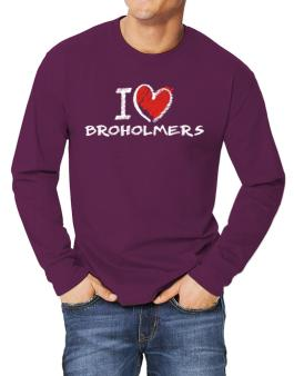 I love Broholmers chalk style Long-sleeve T-Shirt