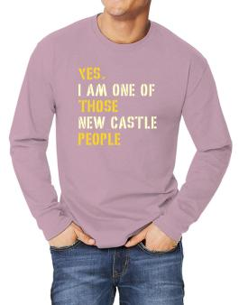 """"""" Those New Castle people """" Long-sleeve T-Shirt"""