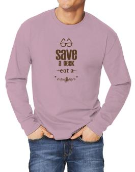 Save a geek Long-sleeve T-Shirt