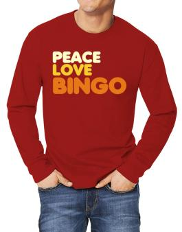 Peace Love Bingo Long-sleeve T-Shirt