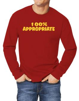 100% Appropriate Long-sleeve T-Shirt