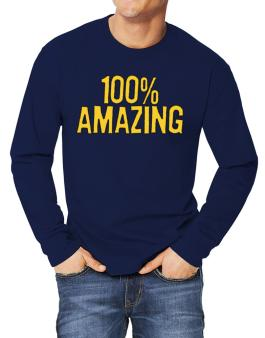100% Amazing Long-sleeve T-Shirt