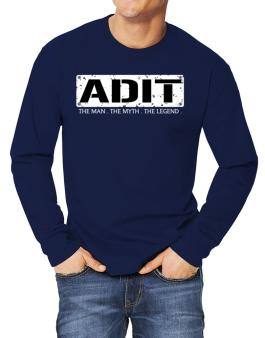 Adit : The Man - The Myth - The Legend Long-sleeve T-Shirt