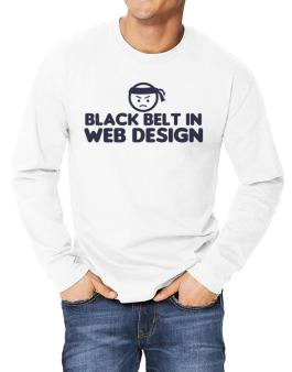 Black Belt In Web Design Long-sleeve T-Shirt