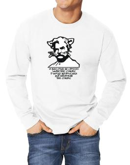 Mark Twain Cat Quote - Altered Long-sleeve T-Shirt