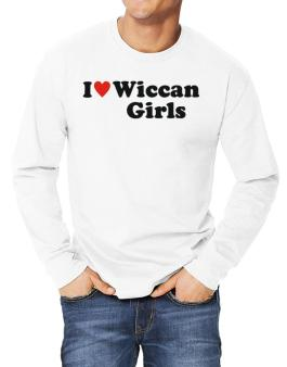 I Love Wiccan Girls Long-sleeve T-Shirt