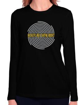 Acoustic Bass Guitar Addict Long Sleeve T-Shirt-Womens