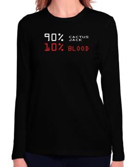 90% Cactus Jack 10% Blood Long Sleeve T-Shirt-Womens