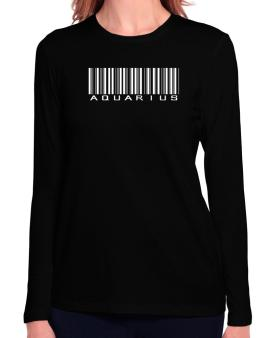 Aquarius Barcode / Bar Code Long Sleeve T-Shirt-Womens