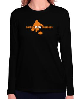 Curling Is My Business Long Sleeve T-Shirt-Womens