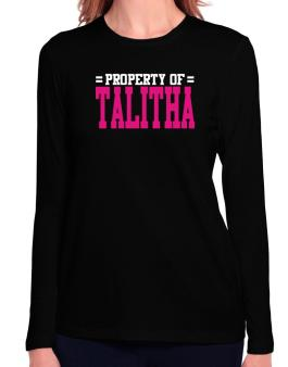 Property Of Talitha Long Sleeve T-Shirt-Womens