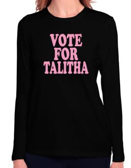 Vote For Talitha Long Sleeve T-Shirt-Womens